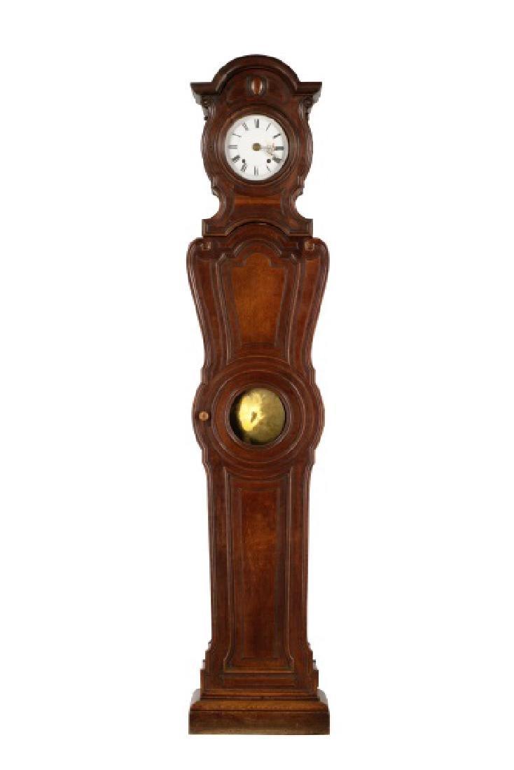 Art Nouveau Style Oak Tall Case Clock