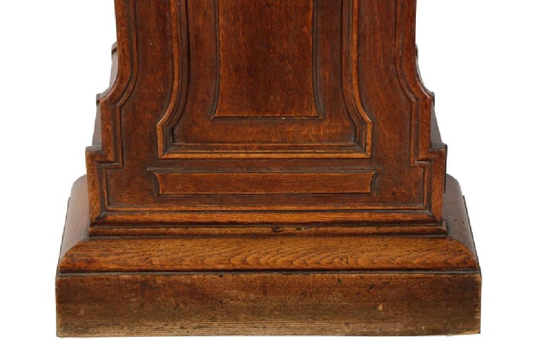 Art Nouveau Style Oak Tall Case Clock - 3