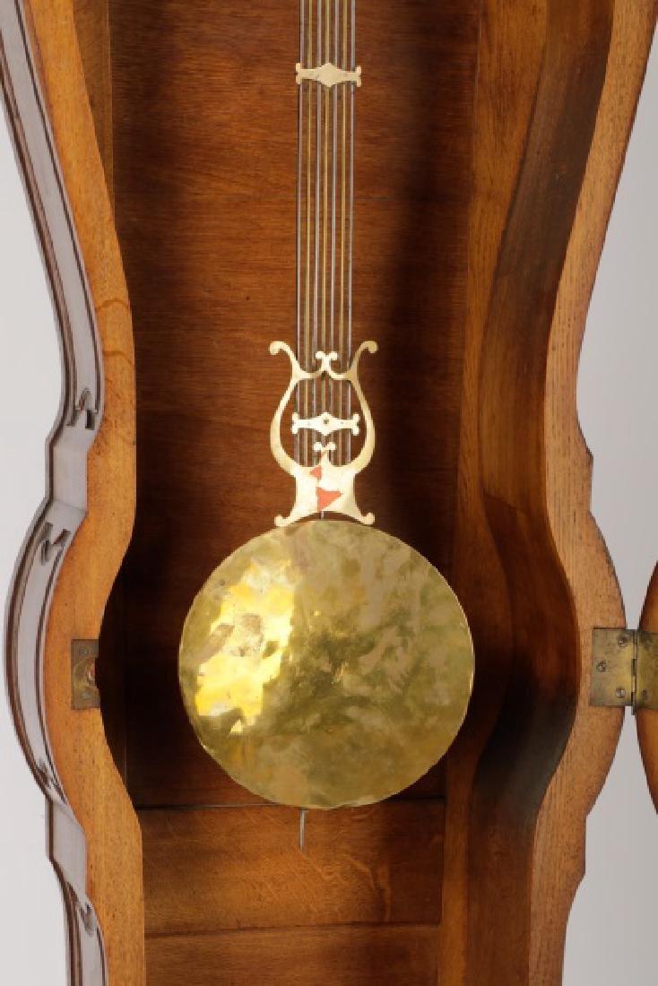 Art Nouveau Style Oak Tall Case Clock - 4
