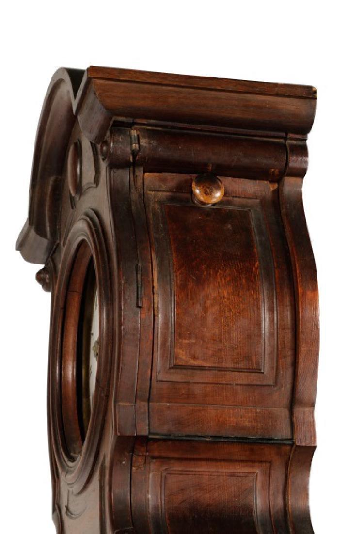 Art Nouveau Style Oak Tall Case Clock - 8