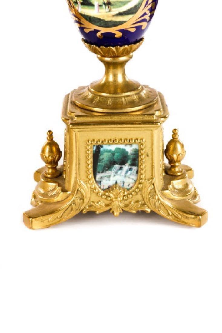 3 Pcs Sevres Style Clock Garniture, Franz Hermle - 10