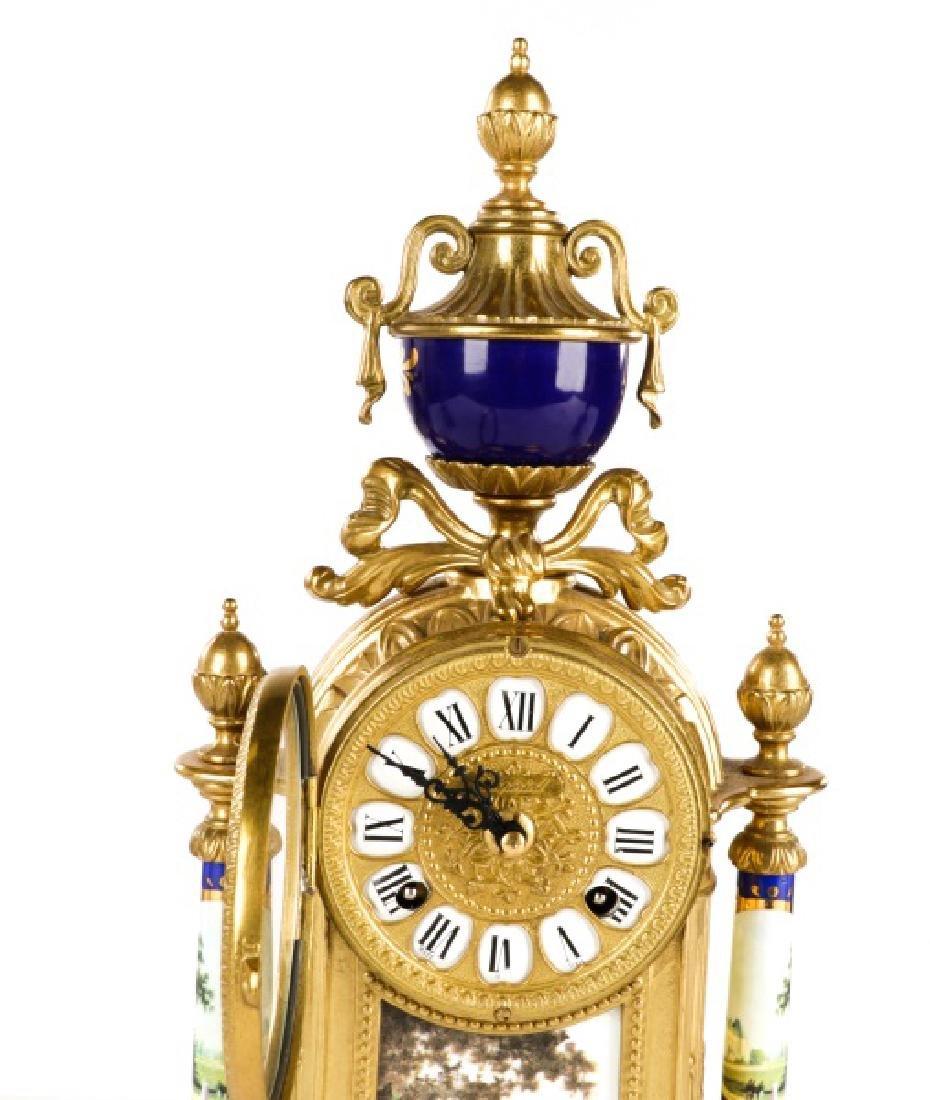 3 Pcs Sevres Style Clock Garniture, Franz Hermle - 2