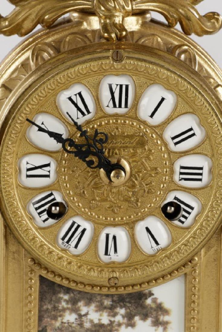 3 Pcs Sevres Style Clock Garniture, Franz Hermle - 3