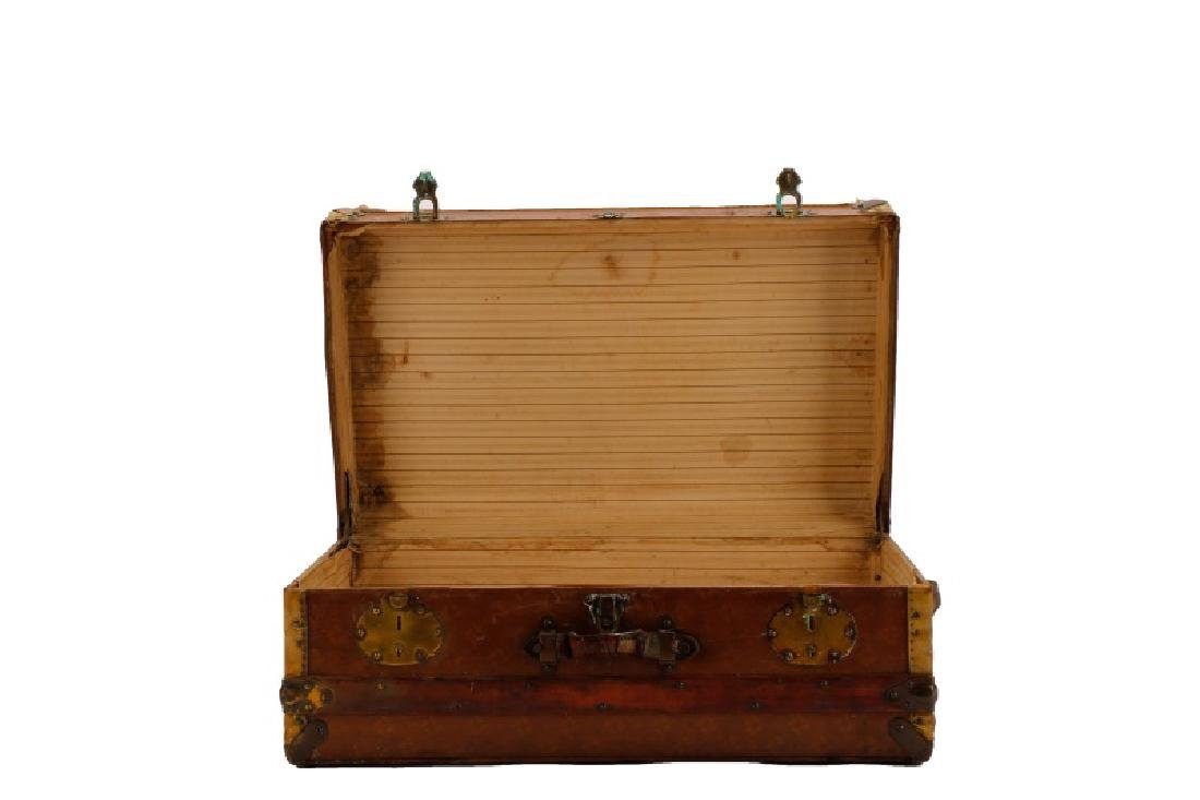 French Traveling Trunk in Monogrammed Canvas - 2