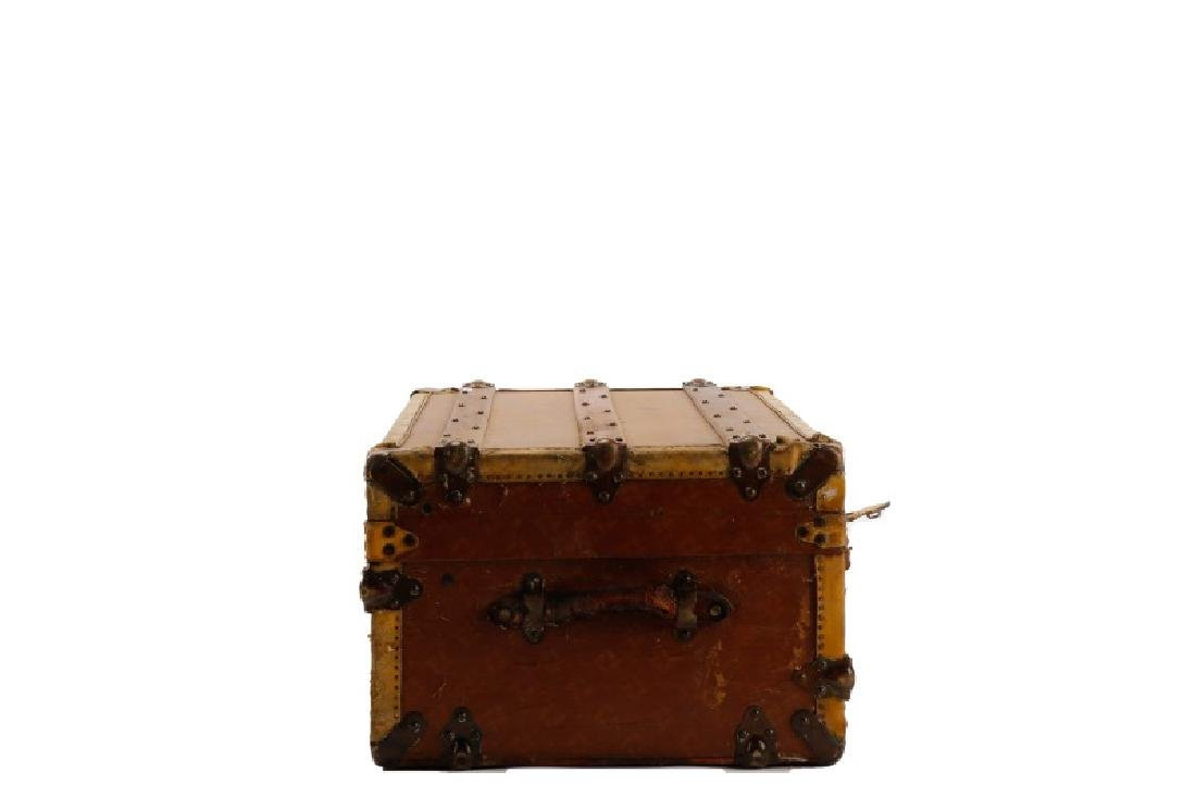 French Traveling Trunk in Monogrammed Canvas - 3