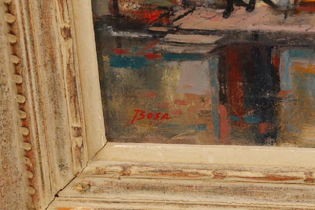 "Louis Bosa, ""Courtyard in Venice"", Signed O/C - 7"