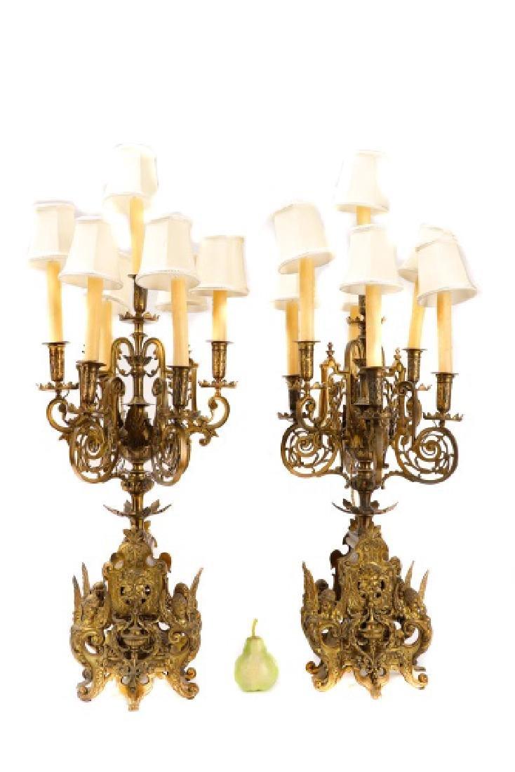 Pair, Renaissance Revival Style Candelabras
