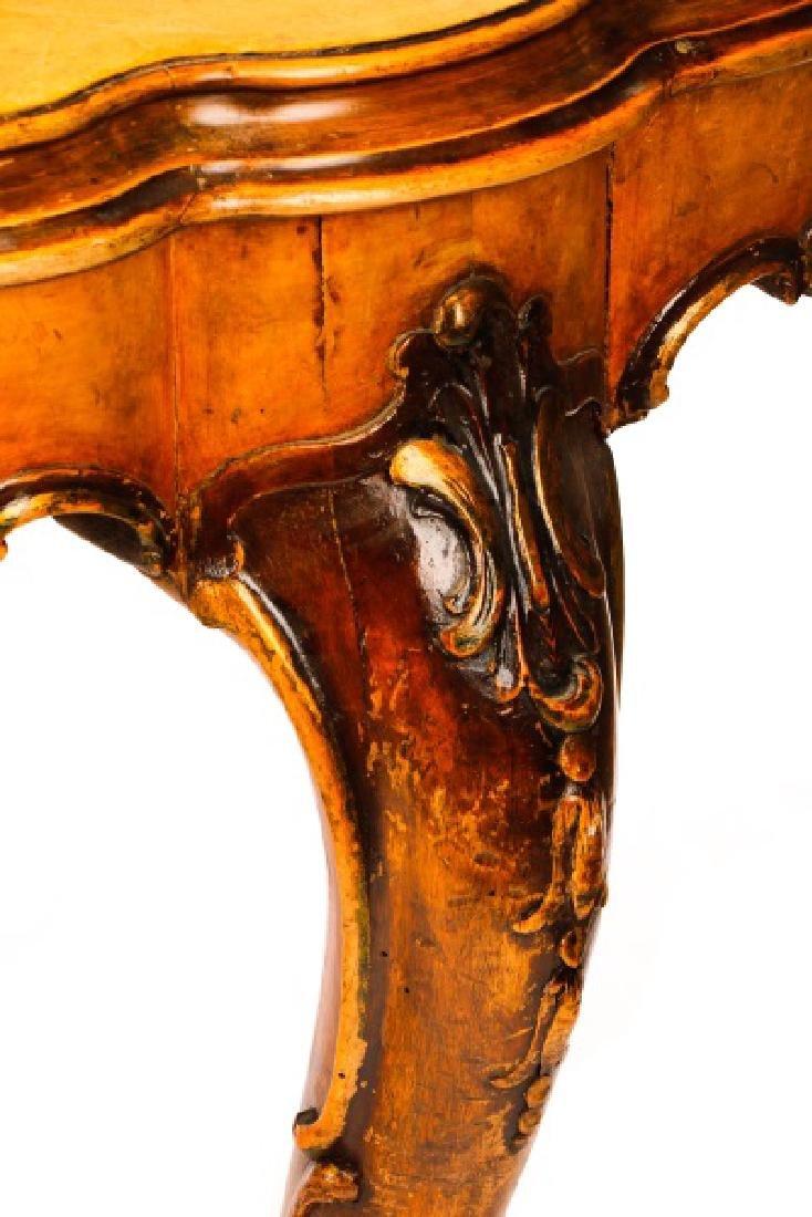 Italian Rococo Burlwood & Walnut Dining Table - 4