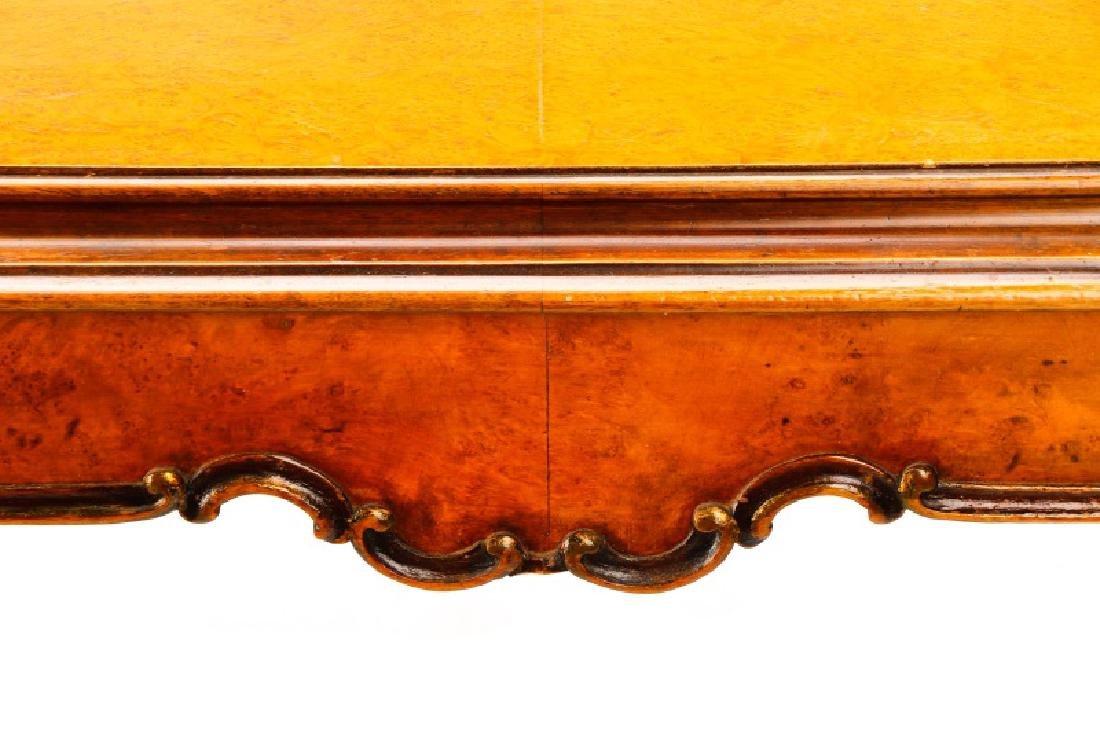 Italian Rococo Burlwood & Walnut Dining Table - 5
