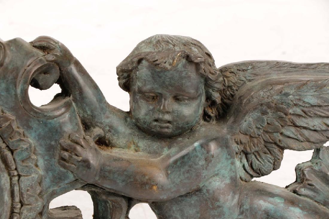 Pair, Patinated Bronze Baroque Style Overdoors - 2