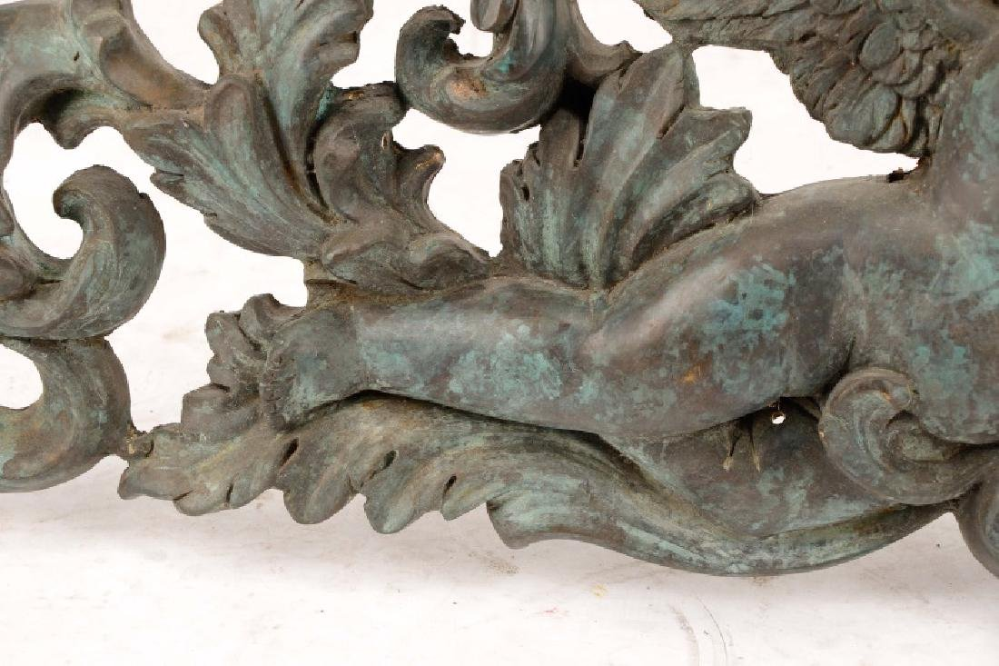 Pair, Patinated Bronze Baroque Style Overdoors - 6