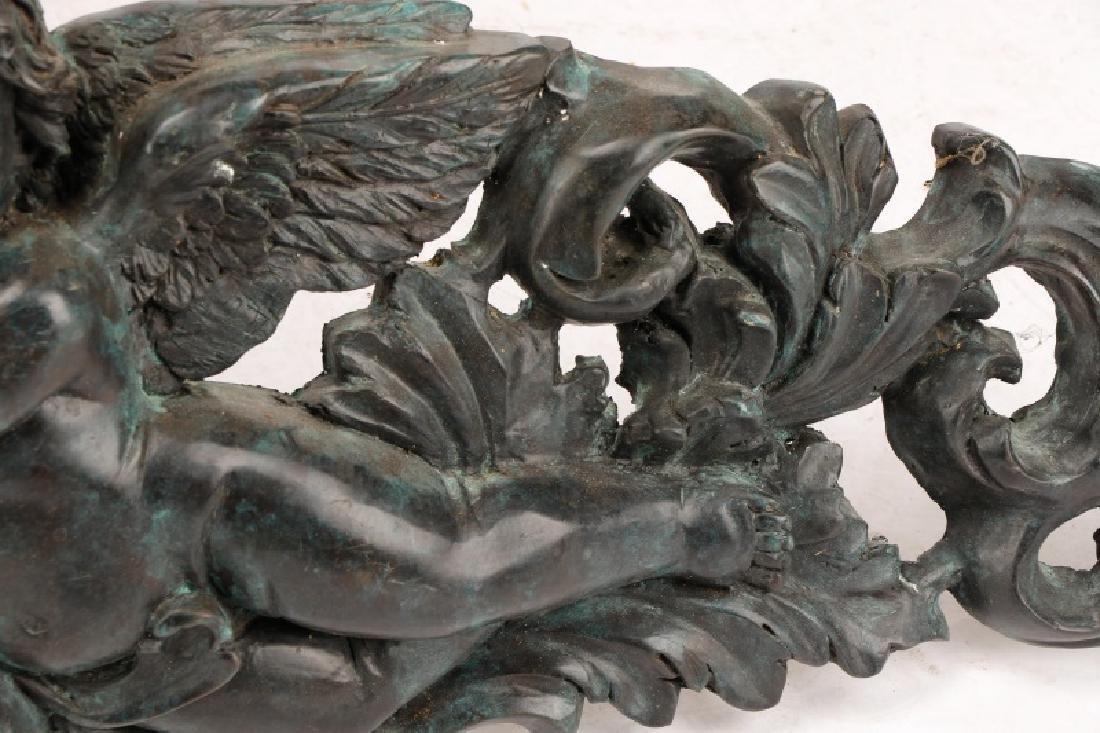 Pair, Patinated Bronze Baroque Style Overdoors - 7