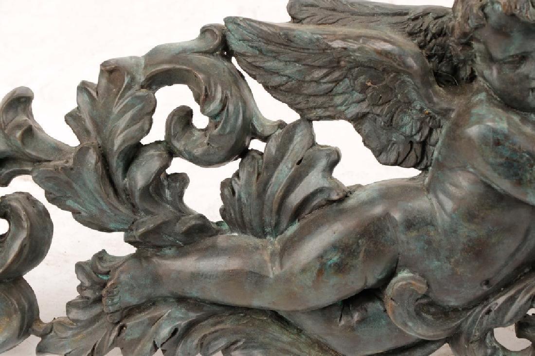 Pair, Patinated Bronze Baroque Style Overdoors - 8