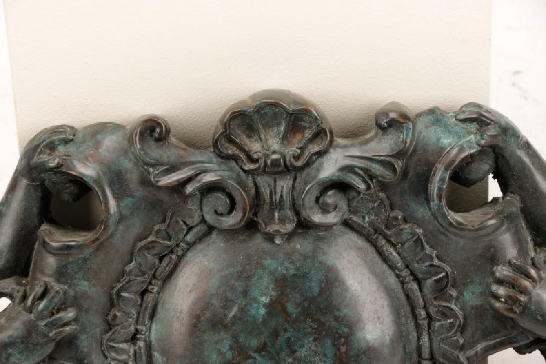 Pair, Patinated Bronze Baroque Style Overdoors - 9