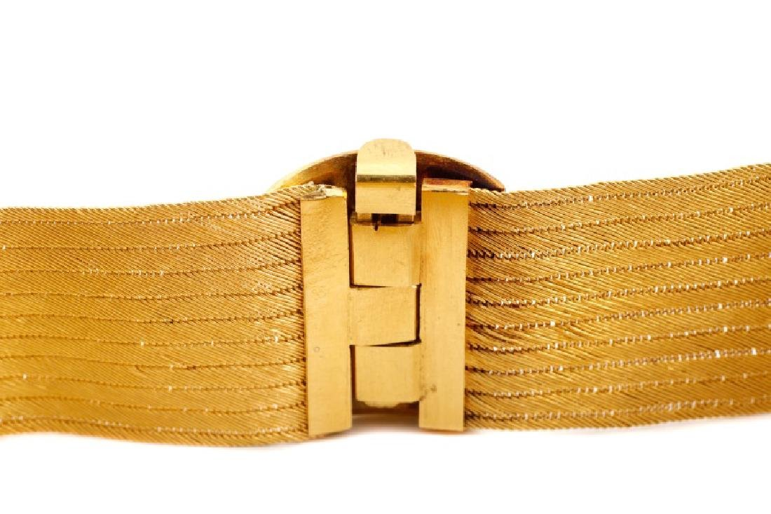 Woven 22k Yellow Choker w/ Engraved Floral Clasp - 4