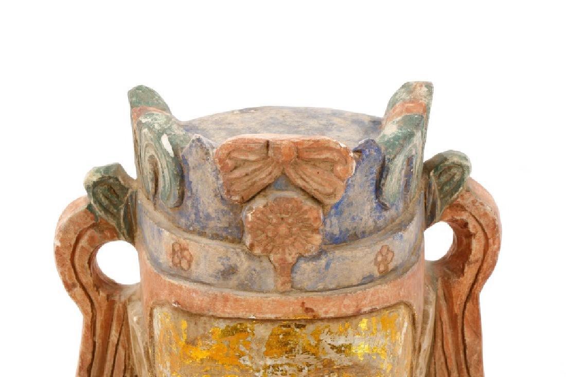 Carved & Polychromed Quartz Buddha Head - 2