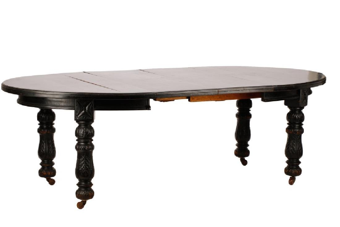 Victorian Ebonized Extension Dining Table - 2