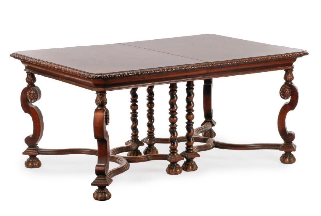 Marquetry Inlaid Dining Table, Hampton Shops