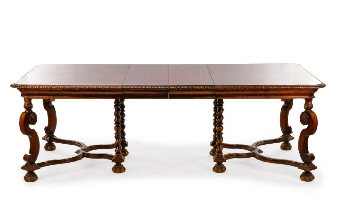 Marquetry Inlaid Dining Table, Hampton Shops - 2