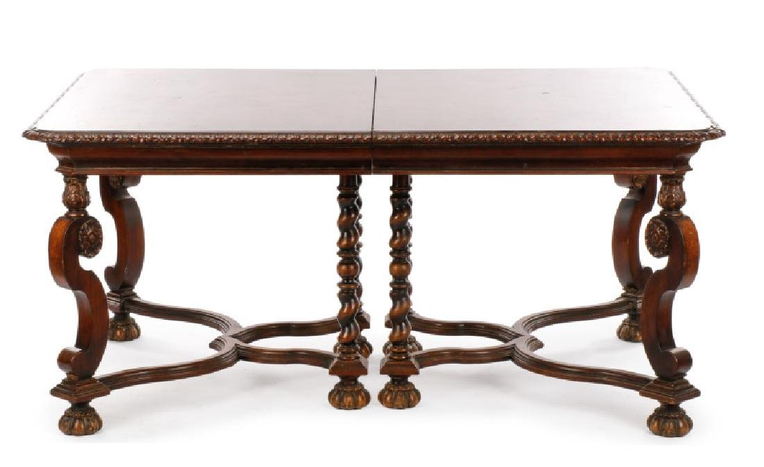 Marquetry Inlaid Dining Table, Hampton Shops - 3