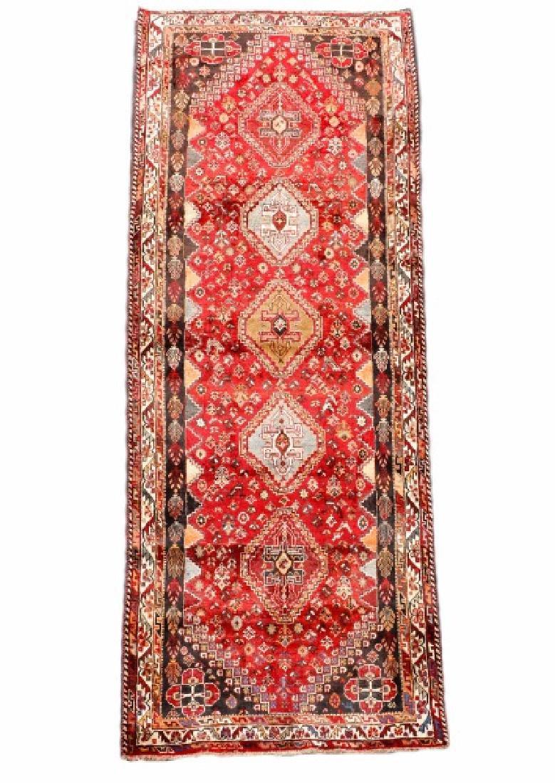 Hand Woven Persian Qashqai Rug 3'9'' x 10'5''