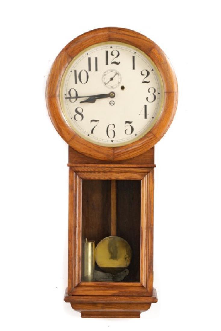 New Haven Saturn Regulator Wall Clock