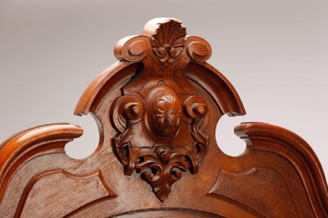 American Mahogany Rococo Revival Bed Frame - 2