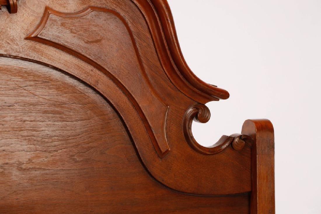 American Mahogany Rococo Revival Bed Frame - 3