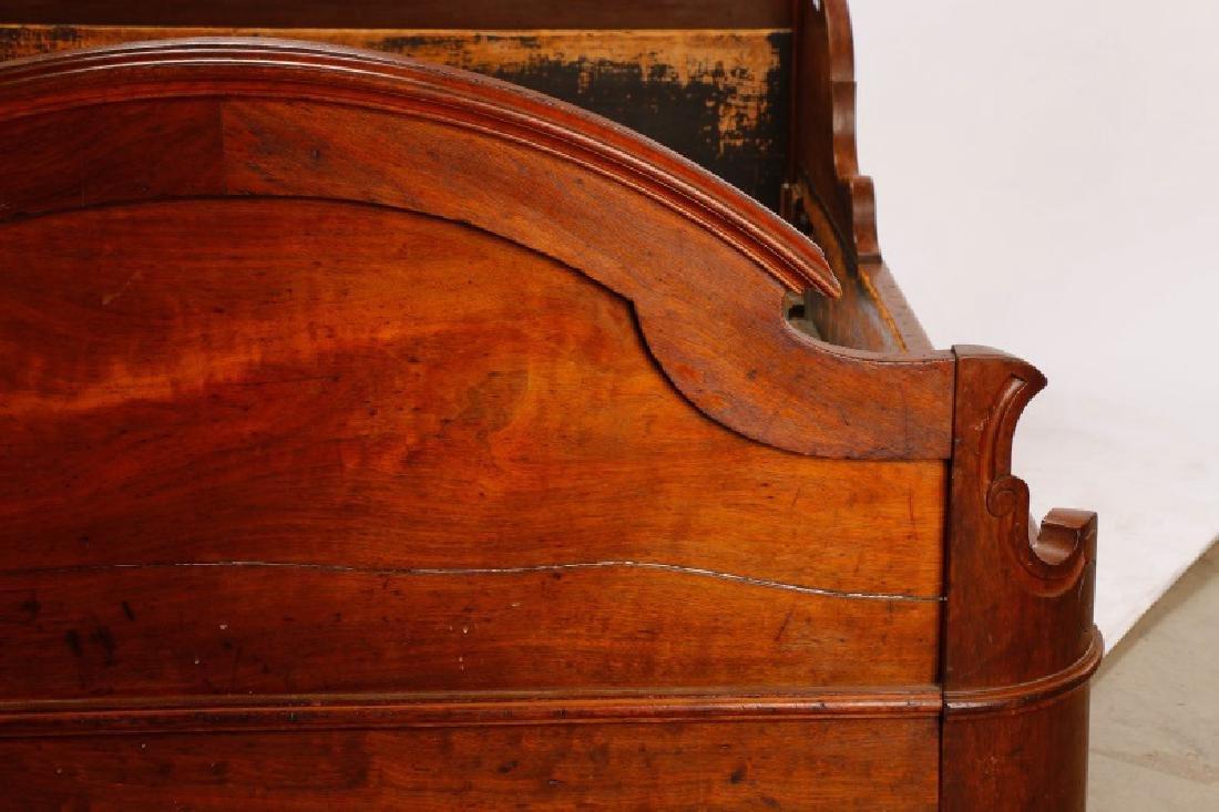 American Mahogany Rococo Revival Bed Frame - 5