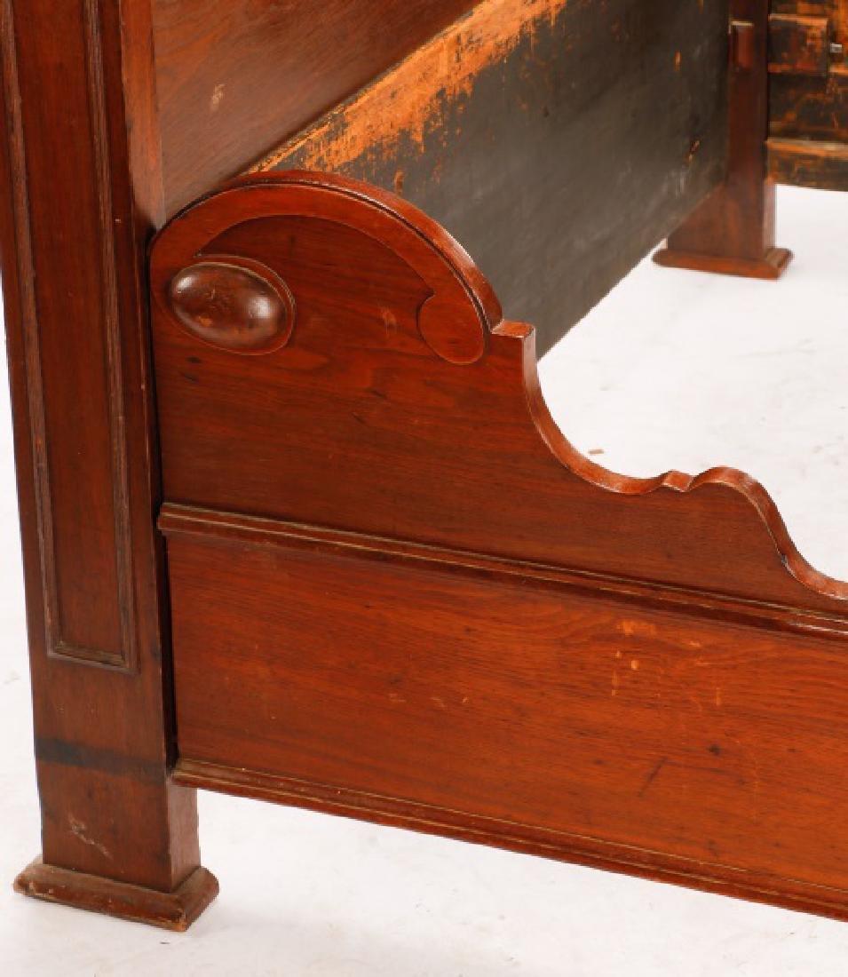 American Mahogany Rococo Revival Bed Frame - 6