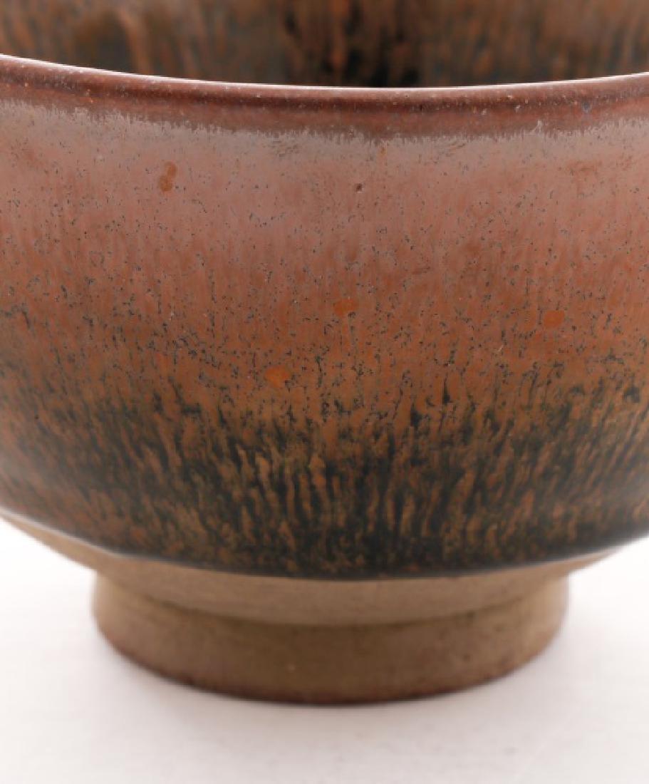 Hare's Fur Tenmoku Glazed Chinese Tea Bowl - 2