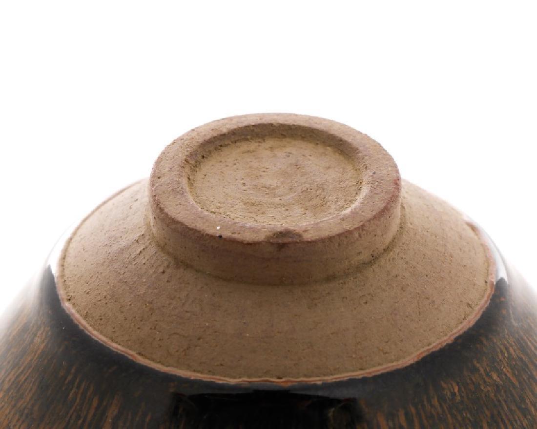 Hare's Fur Tenmoku Glazed Chinese Tea Bowl - 5