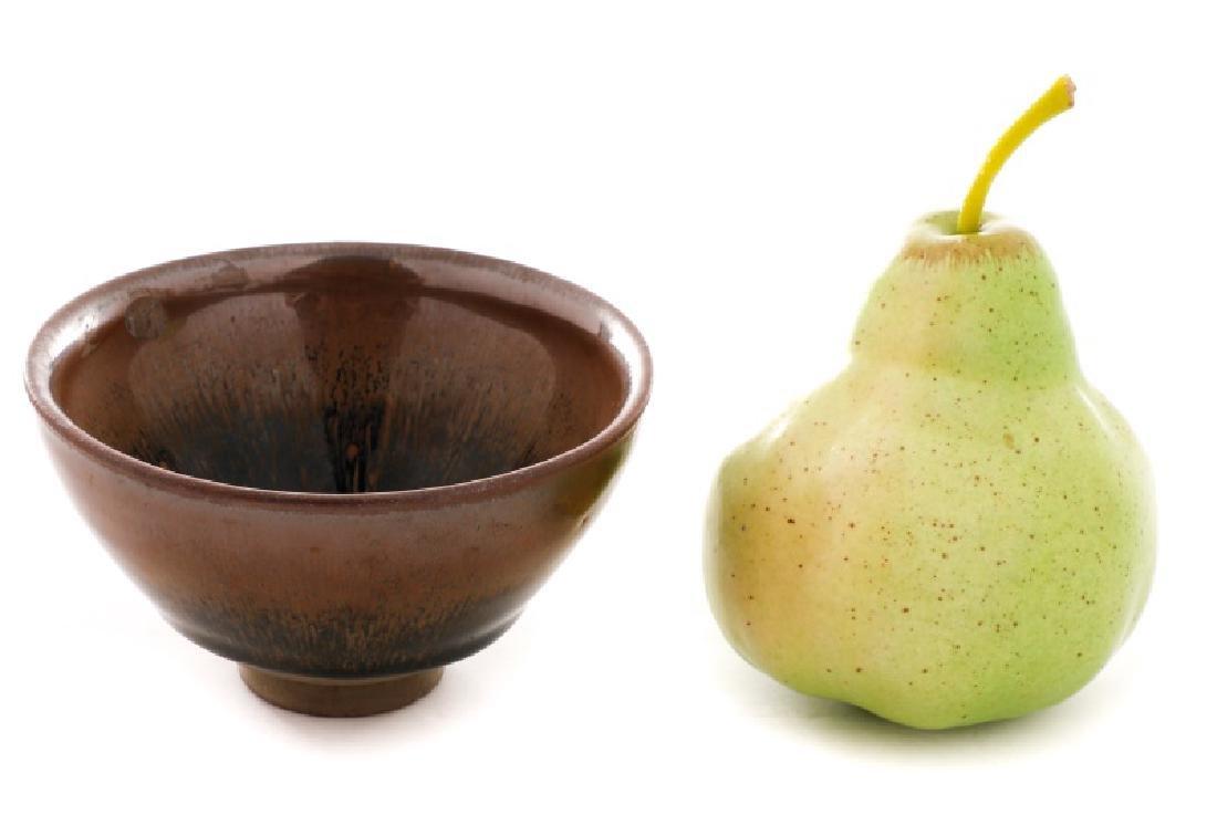 Hare's Fur Tenmoku Glazed Chinese Tea Bowl - 6