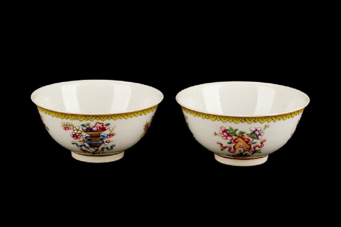2 Daoguang Wine Cups w/ Attributes of 8 Immortals