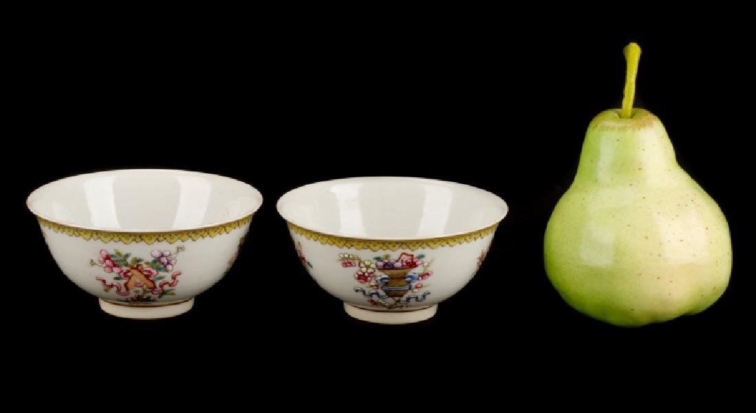 2 Daoguang Wine Cups w/ Attributes of 8 Immortals - 6