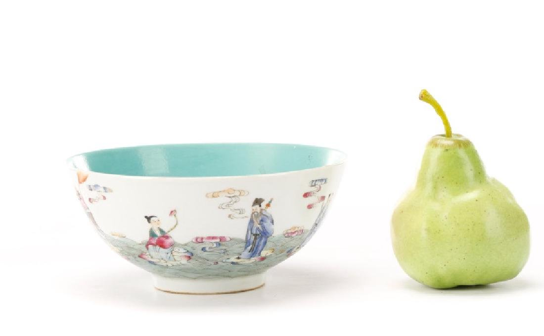 8 Buddhist Immortals Chinese Bowl, Guangxu Mark - 10