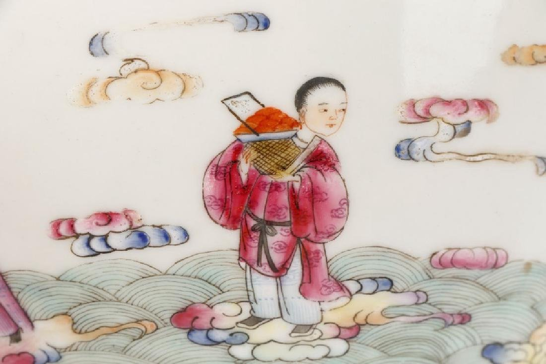 8 Buddhist Immortals Chinese Bowl, Guangxu Mark - 4