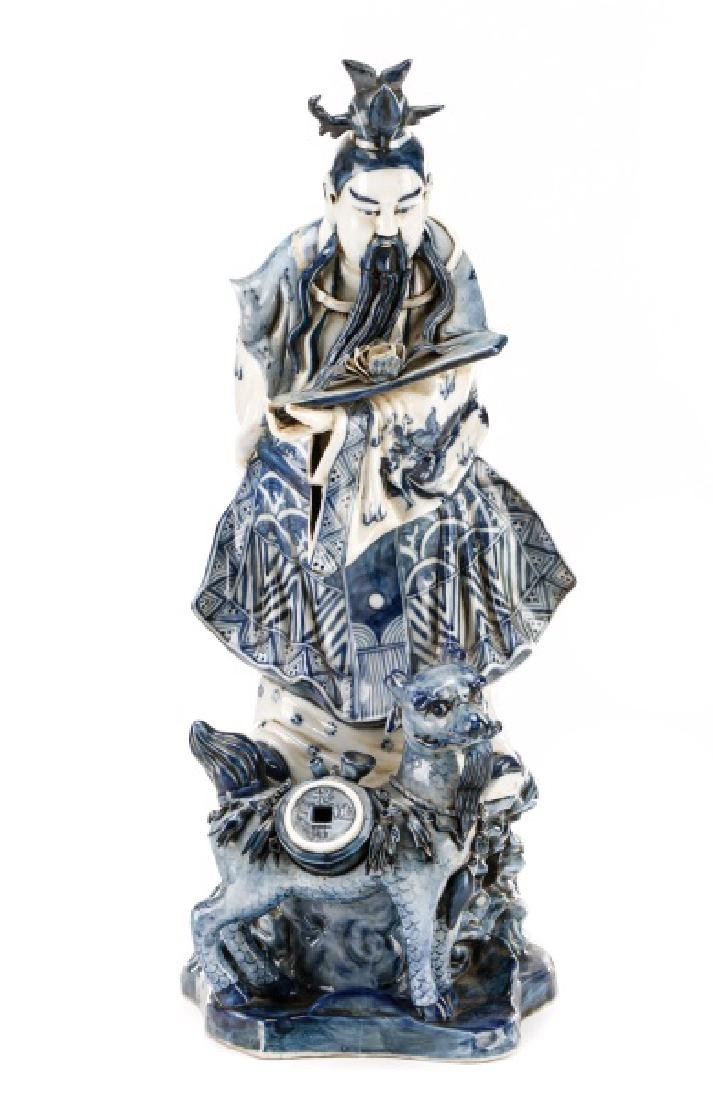 Fine Qing Dynasty Chinese Export Figure of Caishen