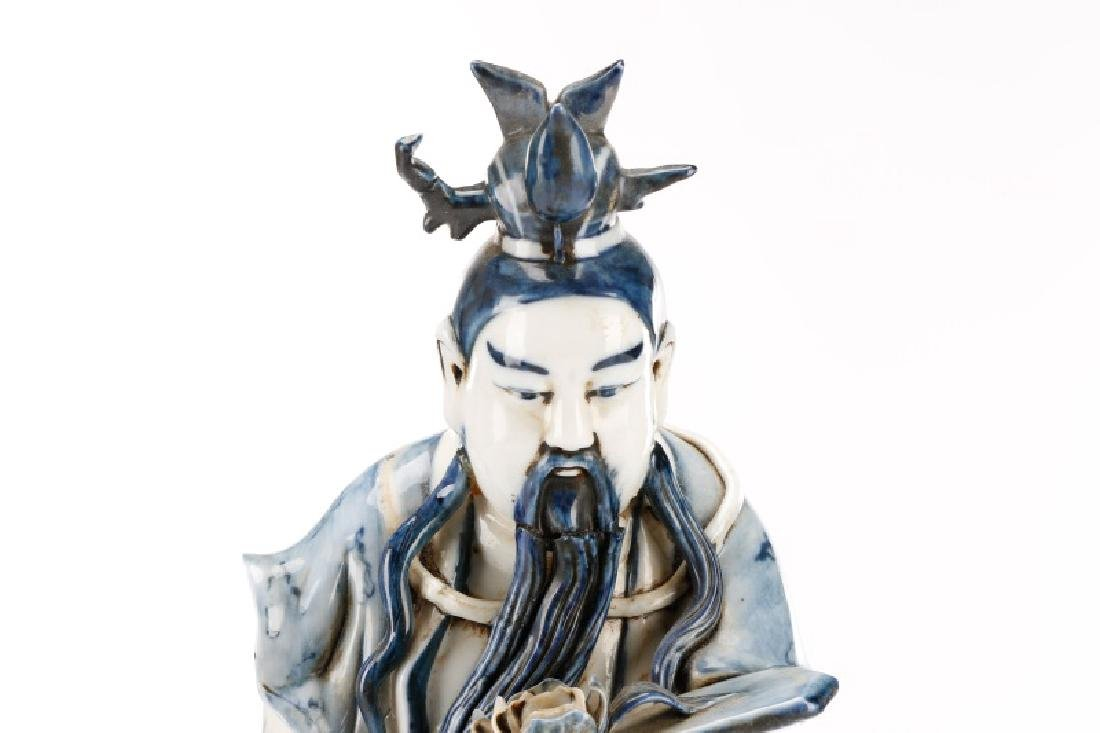 Fine Qing Dynasty Chinese Export Figure of Caishen - 5