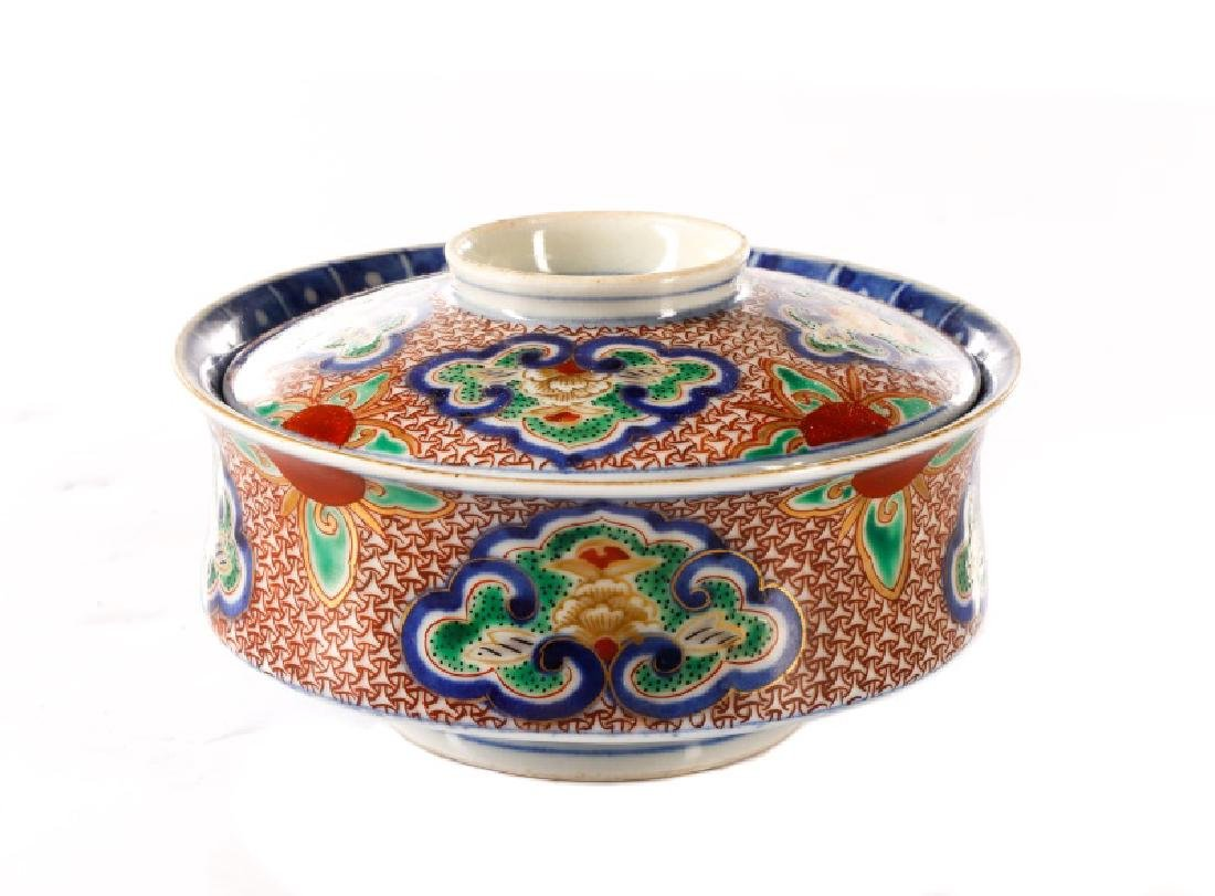 Very Fine Chinese Porcelain Lidded Rice Bowl