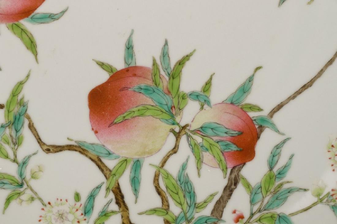 Chinese Yellow Glazed Prunus Fruit Charger - 2