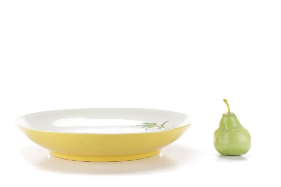 Chinese Yellow Glazed Prunus Fruit Charger - 9