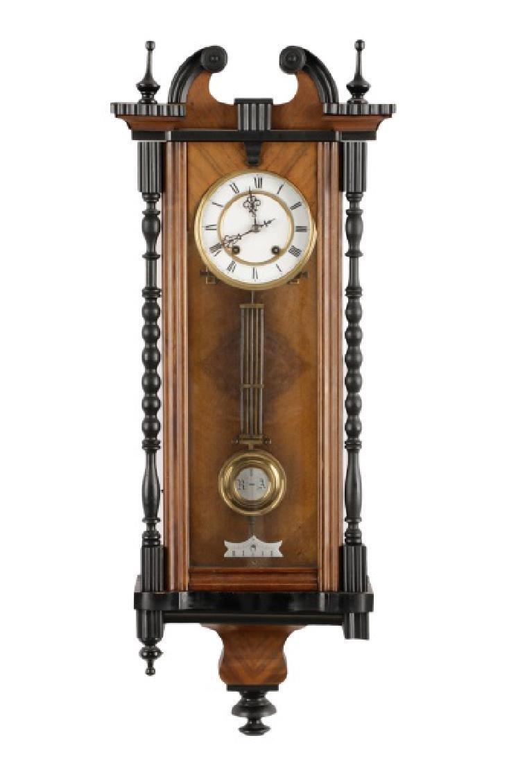 German Junghans Ebonized Wall Hanging Clock