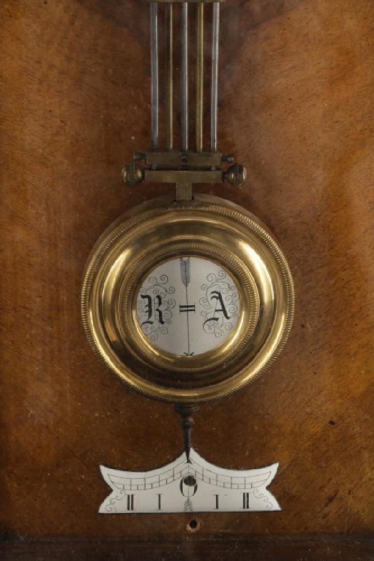 German Junghans Ebonized Wall Hanging Clock - 3