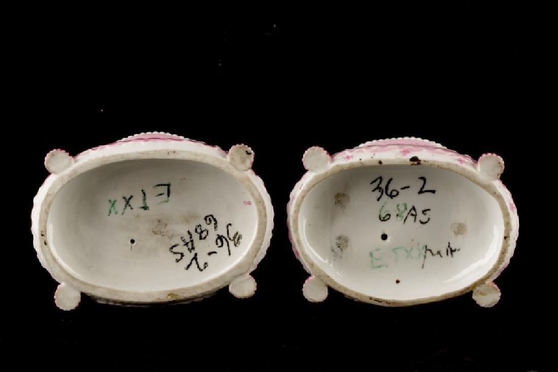 Pair, Sevres Style Porcelain Winged Cherub Vases - 6