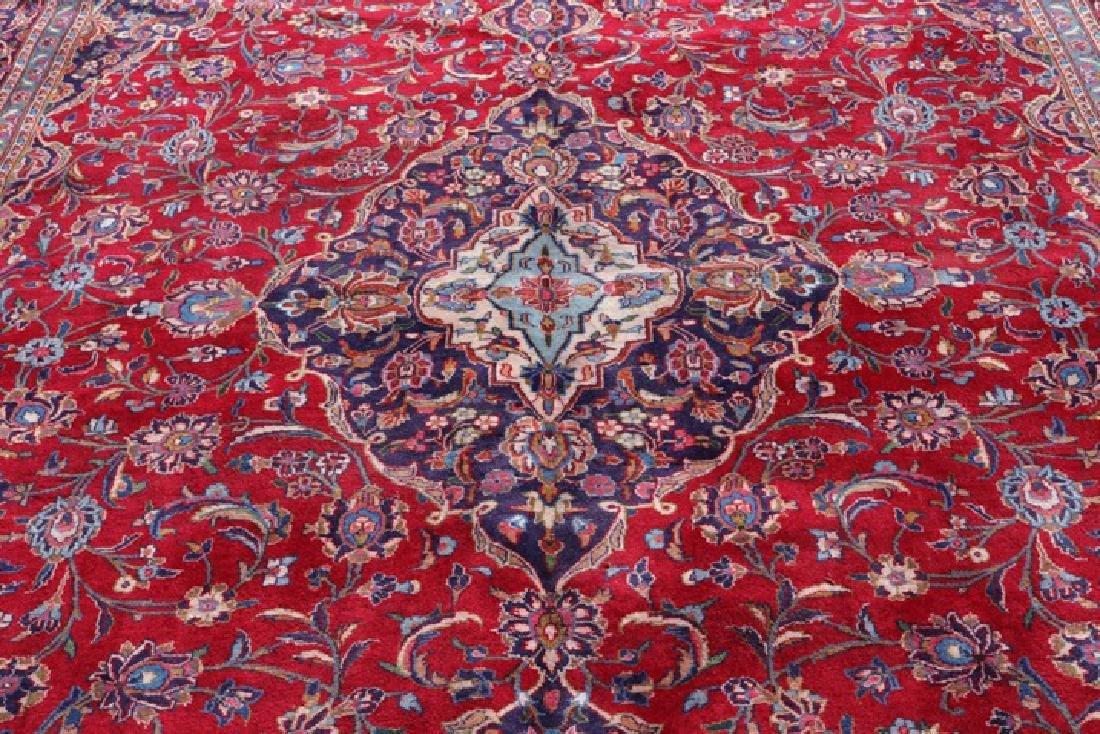 "Hand Woven Persian Mashad Area Rug 9' 6"" x 12' 9"" - 2"