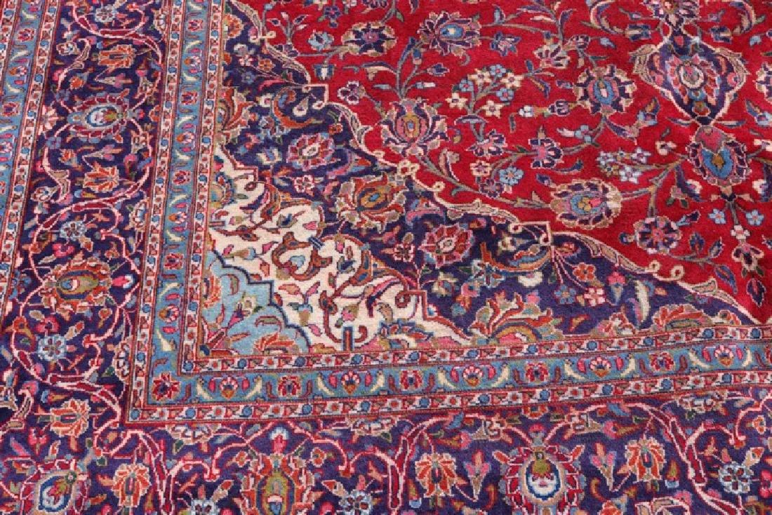 "Hand Woven Persian Mashad Area Rug 9' 6"" x 12' 9"" - 3"