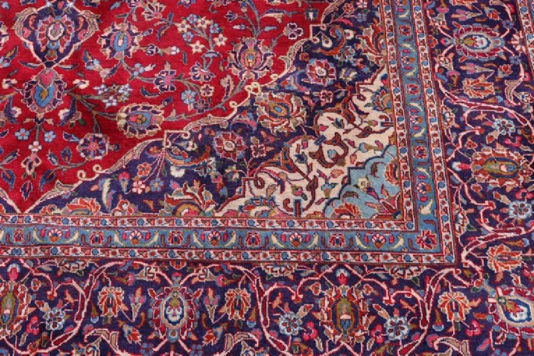 "Hand Woven Persian Mashad Area Rug 9' 6"" x 12' 9"" - 4"