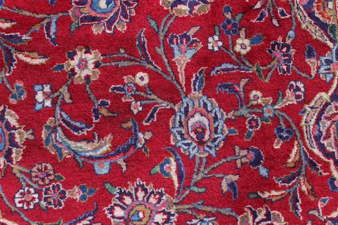 "Hand Woven Persian Mashad Area Rug 9' 6"" x 12' 9"" - 5"
