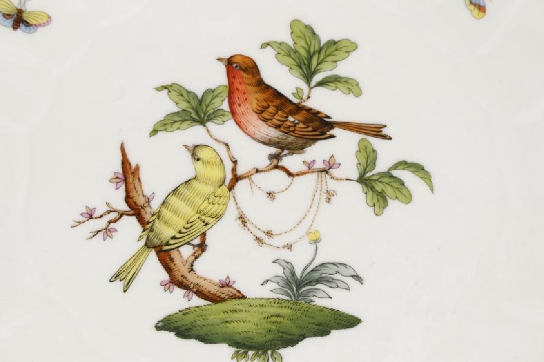 Two Herend Rothschild Bird Serving Pieces - 3
